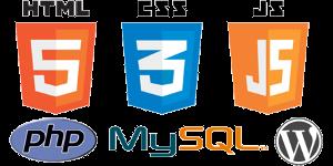 HTML + CSS + Javascript + php + MySQL + WordPress